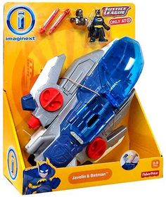 New- Fisher-Price® Imaginext Justice League Javelin Ship and Batman Playset #Imaginext