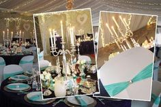 Party Hire Springs is an Affordable Wedding & Party Decor Hiring Company Based in Johannesburg on the East Rand that Prides in Superior Quality Decor Rentals. Teal Table, Party Hire, Wedding Decorations, Table Decorations, House Party, Table Settings, Candles, Purple, Home Decor