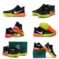 hot sale online 04ec3 056f7 Size Euro 41 Youth Kyrie Shoes 3 Big Boys 2018 Unlimited Black Pink Blast  Volt Kyrie