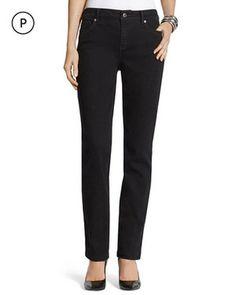 So Lifting Petite Slim-Leg Black Jeans