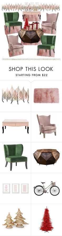 """""""Untitled #260"""" by mink-nppbv ❤ liked on Polyvore featuring interior, interiors, interior design, home, home decor, interior decorating, Artistica, Thro, Vance and National Tree Company"""