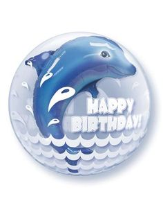 Birthday Dolphin Bubble Balloon 24 Quality Qualatex -- You can find out more details at the link of the image.