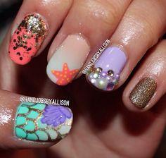@handjobsbyallison #nails #mermaid #halloweennails #nailart