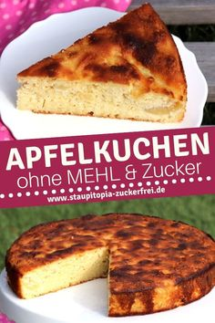 Low Carb Apfelkuchen ohne Zucker und ohne Mehl So delicious - a juicy low carb apple pie without sugar and flour that you can bake quickly and easily. The quick cake without sugar is baked with Paleo Dessert, Bon Dessert, Healthy Dessert Recipes, Health Desserts, Easy Desserts, Dessert Simple, Law Carb, 100 Calories, Desserts Sains