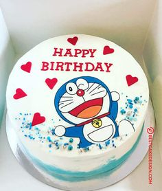 50 Most Beautiful looking Doraemon Cake Design that you can make or get it made on the coming birthday. Cake Designs Images, Cool Cake Designs, Cake Images, Doraemon Cake, Doraemon Cartoon, Cartoon Cakes, Disney Cake Toppers, Korean Cake, Birthday Cartoon