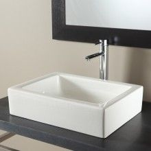 Meuble de salle de bains dado blanc blanc n 0 plan de toilette plan simple v - Vasque rectangulaire salle de bain ...