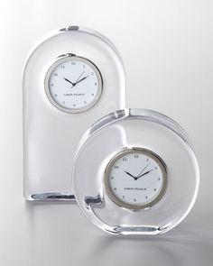 Glass Clocks at Neiman Marcus.