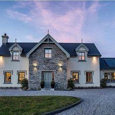 Stone Exterior Houses, Building Exterior, Building A House, Dormer House, Dormer Windows, Bungalow House Design, Modern House Design, House Architecture, Residential Architecture