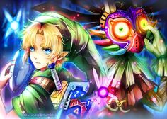 The Legend of Zelda: Majora's Mask / Young Link, Tatl, Skull Kid, and Tael / 「Majora's Mask」/「アク」の漫画 [pixiv]