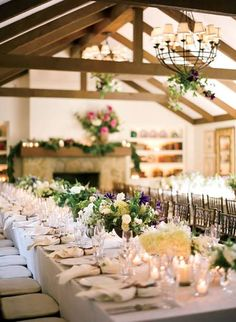 Wedding reception in the Hydrangea Cottage at San Ysidro Ranch
