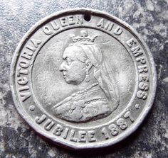QUEEN VICTORIA GOLDEN JUBILEE 1887 MEDAL / MEDALLION Queen Victoria, Badges, Personalized Items, Ebay, Badge