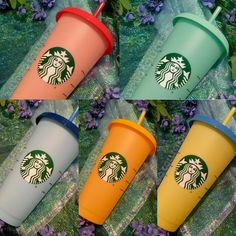 2019 New Starbucks Matte Pink Flower plastic cold cup venti tumbler 24 oz Starbucks Venti, Starbucks Tumbler, Starbucks Drinks, Starbucks Merchandise, Reusable Cup, Reusable Water Bottles, Fruit Water, Matte Pink, Mug Cup