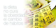 La dieta no cura la obesidad, el cambio de hábitos si. #salud #nutricion