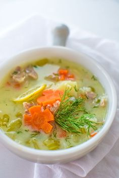 amous Mediterranean Chicken Lemon Soup. This brightly flavored chicken and rice soup will become your favorite in no time! ❤ COOKTORIA.COM