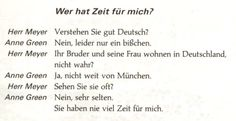 German For Beginners: Who has time for me?