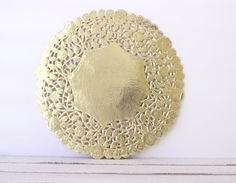 Metallic Gold Doily  Lace  Paper 8 Doilies  by MailboxHappiness, $7.00
