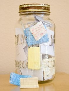Memory jar..Things worth remembering. dear-to-my-heart