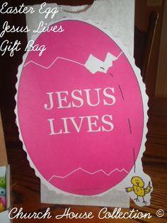Easter egg jesus lives gift bag for kids easter pinterest easter egg jesus lives gift bag for kids easter pinterest jesus lives easter and egg negle Choice Image