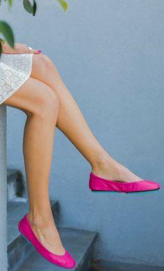 the cutest, comfiest fuchsia pink ballet flats by @Tieks by Gavrieli by Gavrieli by Gavrieli