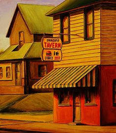 Red Rohall - Inkoff Tavern- Oil - Painting entry - June 2015   BoldBrush Painting Competition