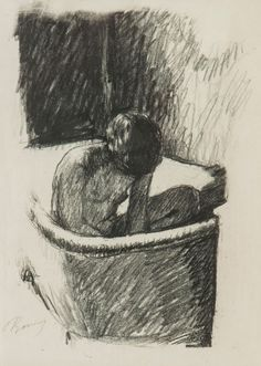 Pierre Bonnard (1862-1947), Le Bain, lithograph printed in black, ca.1925