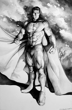Superman Standing for Justice by Eric Meador