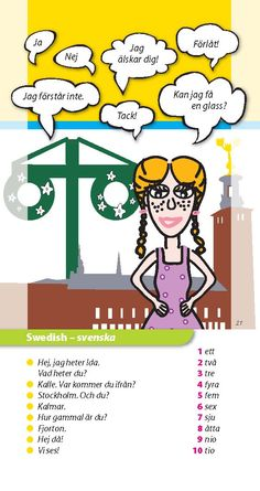 Swedish phrases Learn Swedish, Swedish Language, The Swede, Swedish Recipes, Foreign Languages, Stockholm, Finland, Denmark, Vocabulary