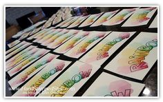 How to create tons of cards in the least amount of time, watercoloring with over the rainbow tree builder punch