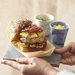Hamburger au veau et pancetta, compotée pomme-oignon-citron