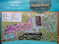 Powerparkin kartta: Lapsiperheille hauska paikka Härmässä.  Kiva karavaanarialue ja mökkejä sekä pikkuhotelli. Uima-allas!