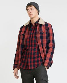 ZARA - MAN - CHECK FLANNEL SHIRT 016ab979a1