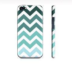 Tiffany Blue Chevron Ombre  Premium Iphone 5 Case by SuprCases, $29.95