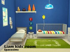 Sims 4 CC's - The Best: Liam kids' room by Spacesims