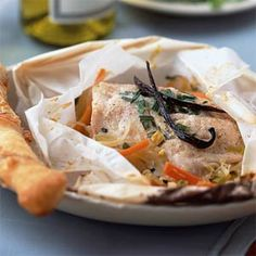 7 Ways With Vanilla   Fish in Paper Parcels with Leeks, Fennel, Chives, and Vanilla   MyRecipes.com