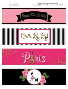 fd4bbc840a228d Paris Birthday Party Package Paris Birthday Invitation Paris Paris Themed Birthday  Party