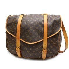 Louis Vuitton Saumur 43 Monogram Cross body bags Brown Canvas M42252