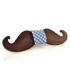 Wooden bow-ties. Fantasy collection. Moustache by MenEvolution