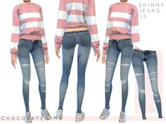 Jeans are the genius wear-with-anything wardrobe item! Found in TSR Category 'Sims 4 Female Everyday'