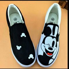 lovers lazy shoes fish foot pedal women's shoes cat doodle women hand painted canvas shoes