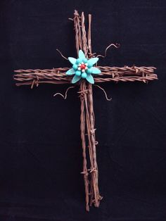 Barbed Wire Cross Rustic Wall Art by thelatterhalf on Etsy, $38.95