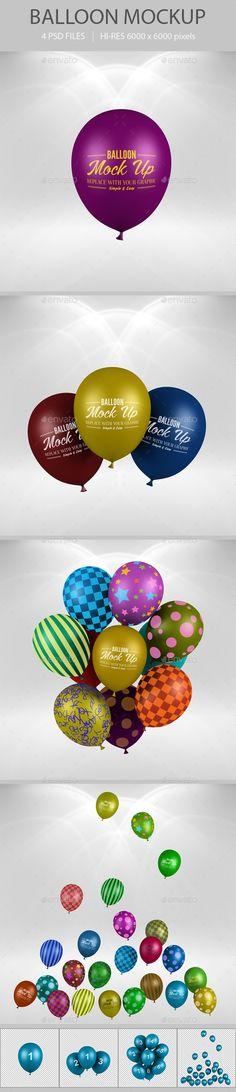 Balloon Mockup - Logo Product Mock-Ups