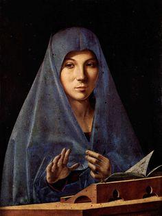 Antonello da Messina - Virgin Annunciate - Galleria Regionale della Sicilia, Palermo - Antonello da Messina - Wikipedia, la enciclopedia libre