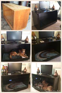 diy built in dog kennels house pinterest selber machen. Black Bedroom Furniture Sets. Home Design Ideas