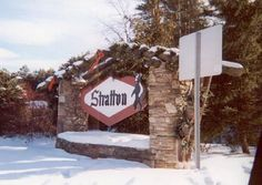 Entrance sign to Stratton Mountain, VT. This ALWAYS means good times.