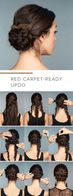 Braided base for a cool updo - 12 Long Hairstyles For Ev. Braided base for a cool updo - 12 Long Hairstyles For Ev. Braided base for a cool updo - 12 Long Hairstyles For Everyone Pretty Braided Hairstyles, Braided Hairstyles Tutorials, Braid Hairstyles, Step By Step Hairstyles, Easy Braided Updo, Braids Easy, Low Updo, Messy Braids, Brunette Hairstyles