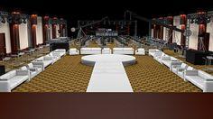 Salón de fiesta vista desde la tarima. #C4D #3D