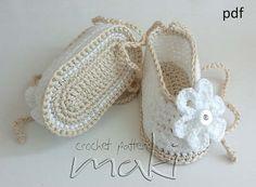 Baby crochet pattern Baby booties crochet pattern от MakiCrochet