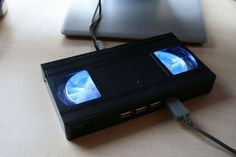 It's not vinyl, but we're closing in - crackajack has a DIY to turn an old VHS into a USB hub. Acronym delight!
