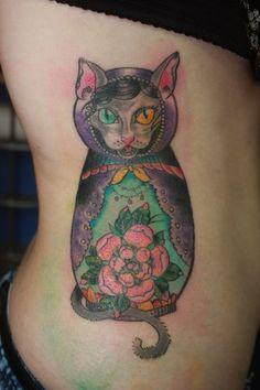 Female tattoo #tattoo #sketchtattoo #idea #ink  #tattooartist #tattoonhamon #inked #tattooed #cat