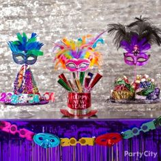 But in gold, silve & black!!!! Bright New Years Eve Party Ideas - Party City
